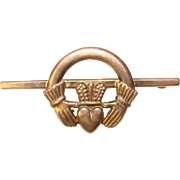 Gorgeous STERLING CLADDAGH Hallmarked Vintage Brooch