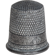 Antique Sterling SIMON BROS Sewing Thimble - Size 8