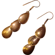 Awesome MEXICAN STERLING Dangle Design Vintage Earrings