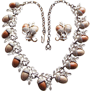 Awesome ACORN Vintage Necklace Set - Perfect for the Autumn Fall Season