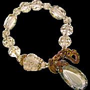 Fabulous MIRIAM HASKELL Faceted Crystal Drop Estate Bracelet