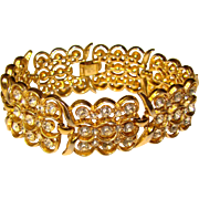 Fabulous TRIFARI Sparkling Rhinestones Vintage Bracelet