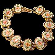 Fabulous STERLING ENAMEL Vintage Bracelet