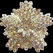 Fabulous Early Dodds Aurora Rhinestone 11 W 30 St Vintage Brooch