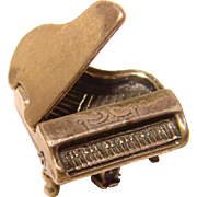 Awesome Sterling PIANO Vintage Charm - Mechanical Movable
