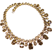 Fabulous OVAL RHINESTONE Vintage Estate Necklace