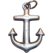 Awesome Sterling Anchor Vintage Charm