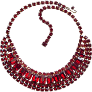 Fabulous RED RHINESTONE Vintage Necklace