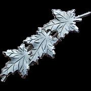 Gorgeous STERLING Maple Leaf Vintage Brooch