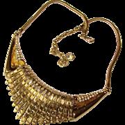 Fabulous COROCRAFT Vintage Baguette Rhinestone Necklace