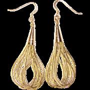 Gorgeous LIQUID SILVER Sterling Dangle Earrings