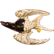 Awesome 1940's Figural Flying Bird Vintage Brooch