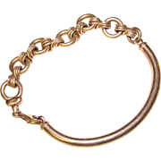 Awesome STERLING ITALY Curve Twist Link Bracelet