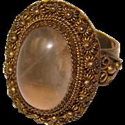 Fabulous OLD CHINESE Quartz Stone Ring