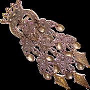 Fabulous HEART & CROWN 830S Silver Norwegian Solje Vintage Brooch
