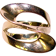 Fabulous STERLING Modernist Design Vintage Ring