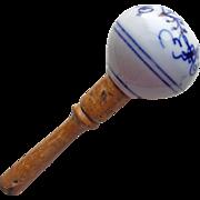 Antique Flow Blue Sock Darning Egg