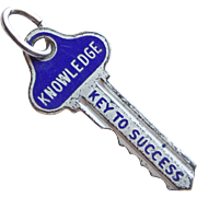 Beau Sterling & Enamel Vintage Charm - Knowledge The Key to Success