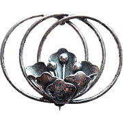 Gorgeous Sterling Flower Vintage Brooch - Signed Sterling by Jewelart
