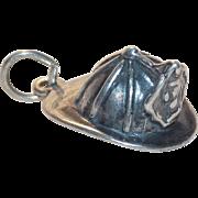 Sterling FIREFIGHTERS HELMUT Vintage Charm - Fireman's Firewoman's Hat