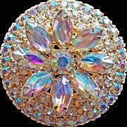 Gorgeous Aurora Rhinestone Vintage Brooch