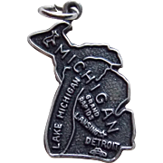 Sterling Michigan Vintage Charm - State Souvenir