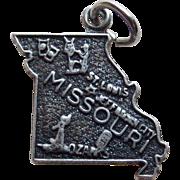 Missouri Sterling Signed Vintage Estate Charm - State Souvenir