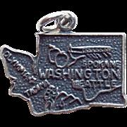 Sterling WASHINGTON Vintage Charm - State Souvenir