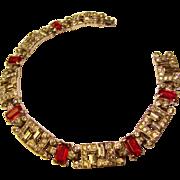 Fabulous KTF Early Trifari Signed Vintage Rhinestone Bracelet