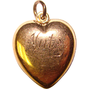 Sweet Gold Filled Nickname NUTZ Engraved Puffy Heart Charm