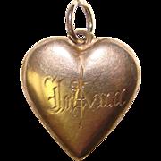 Fabulous Sterling PUFFY HEART Charm - Engraved JoAna