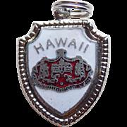 Sterling & Enamel HAWAII Vintage Charm - State Souvenir