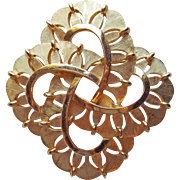Gorgeous TRIFARI Signed Vintage Brooch