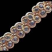 Gorgeous TRIFARI Signed Smoke Rhinestone Vintage Bracelet