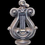 Sterling Lyre Vintage Charm