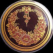 Signed MICHAELA FREY Enamel Vintage Brooch