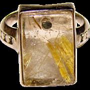 Fabulous RUTILATED QUARTZ Sterling Silver Ring