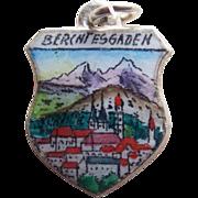 Vintage 920 Silver & Enamel Berchtesgaden Charm - Souvenir of Germany