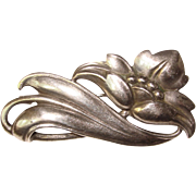 Fabulous VIKING CRAFT Sterling Vintage Estate Brooch