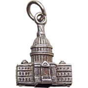 Sterling US CAPITOL Building Vintage Estate Charm - United States of America
