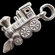 Sterling TRAIN Vintage Estate Charm