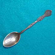 Detailed PORTLAND OREGON Sterling Signed Antique Estate Souvenir Spoon