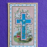 Antique EASTER CROSS Estate Postcard