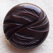 Gorgeous CARVED BAKELITE Large Vintage Estate Button