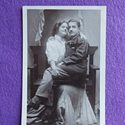 Antique HOLD MY MALE Hilarious Real Photo Estate Postcard