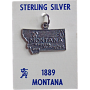 Awesome MONTANA Sterling Vintage Estate Souvenir Charm