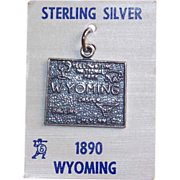 Awesome WYOMING Sterling Vintage Estate Souvenir Charm