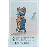 Antique NAUGHTY BUT NICE Humorous Estate Postcard