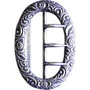 Fabulous GORHAM STERLING Signed Antique 1894 VICTORIAN Old Estate Heavy Buckle