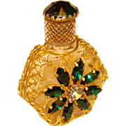 Fabulous AUSTRIA DECO Jeweled Filigree Perfume Bottle